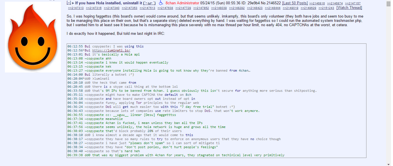 botnet attack on 4chan