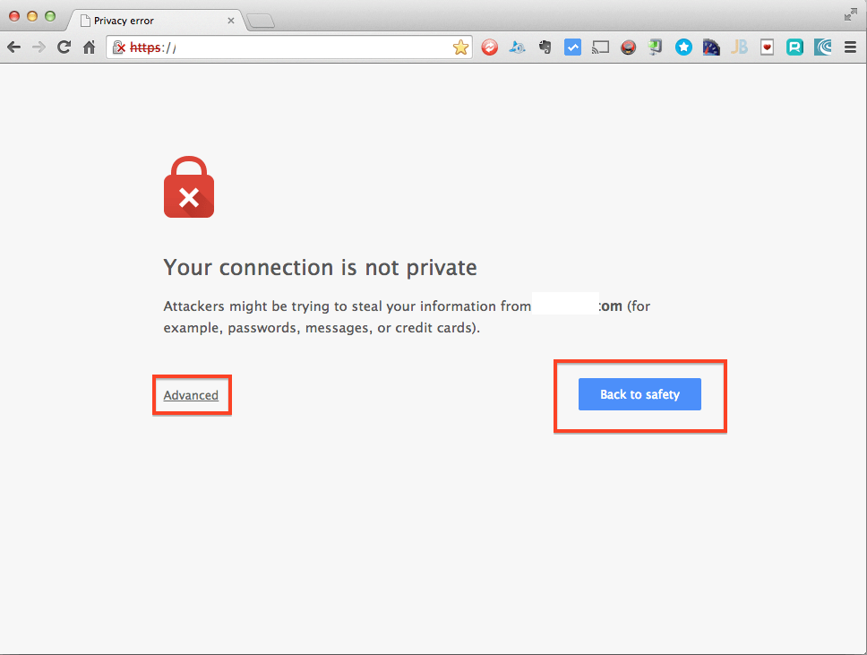 chrome privacy error