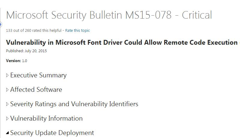 MS15-078 windows vulnerability