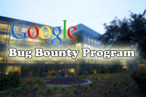 google logo with bug bounty program words