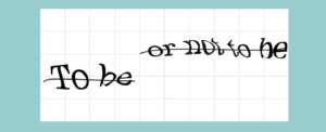 word crossed out , a sample captcha