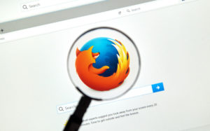 firefox browser inside magnifying glass