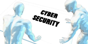 Cyber Security Discussion and Business Meeting Concept Art 3D Illustration Render
