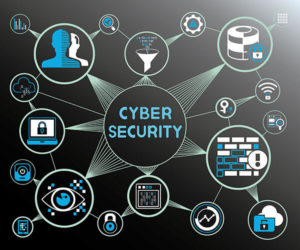 cyber security concept, internet security, data security icons