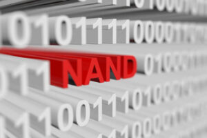 NAND binary code illustration