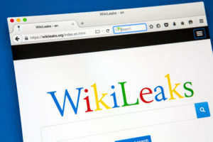 The homepage of WikiLeaks - a non-profit organisation that publishes classified media and secret information, on 20th June 2015.