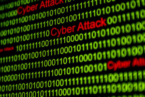 word cyber attack inside binary codes