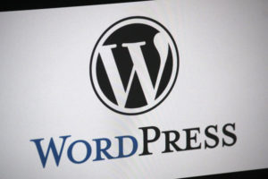 "the logo of the brand ""Wordpress"", Berlin."