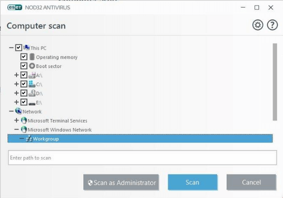 ESET_NOD32 ANTIVIRUS_10_scan