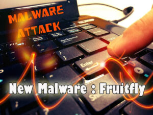 message of malware attack