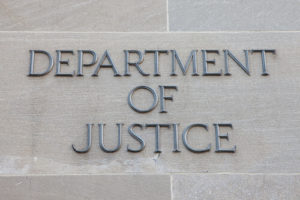 Sign for the Department of Justice