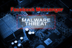 Virtual screen showing MALWARE THREAT