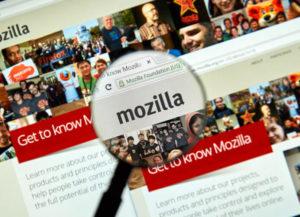 mozilla webpage