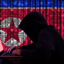 hacker with north korean flag