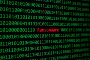 The RansomWare and Binary code, RansomWare Concept Security and Malware attack.
