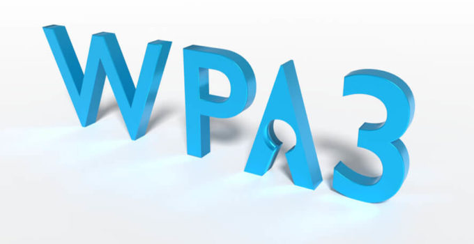 The text WPA3 where the A has a keyhole cybersecurity concept 3D illustration