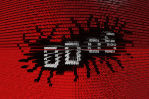 ddos presented in the form of binary code 3d illustration