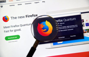 Firefox Quantum home page