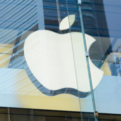Apple Sign Close Up.
