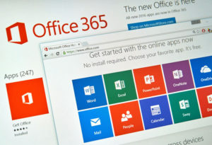 Microsoft Office 365 on PC screen.