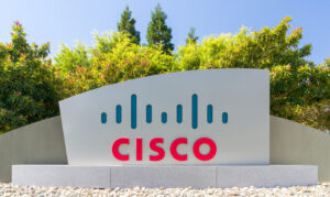 Cisco corporate headquarters and logo. Cisco Systems, Inc. is an American multinational technology conglomerate.