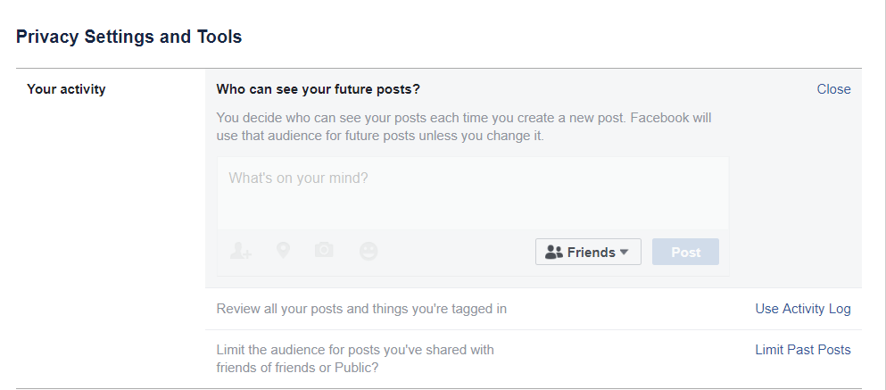 Who can see your future posts on Facebook.