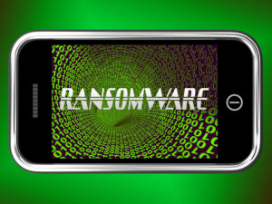 Ransomware attack mobile phone.
