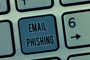 Handwriting text Email Phishing. Concept meaning Emails that may link to websites that distribute malware