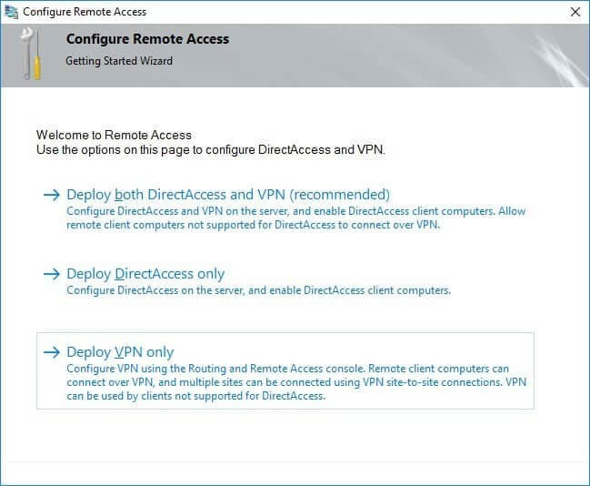 Configure Remote Access