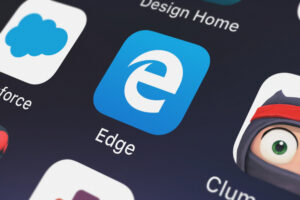 Icon of the mobile app Microsoft Edge from Microsoft Corporation on an iPhone