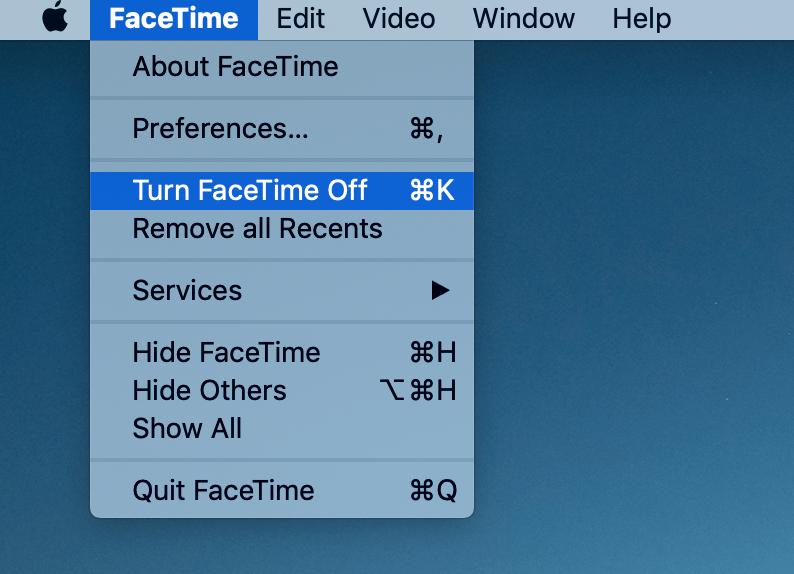 facetime menu