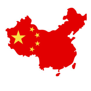 map of China with flag inside. (1)