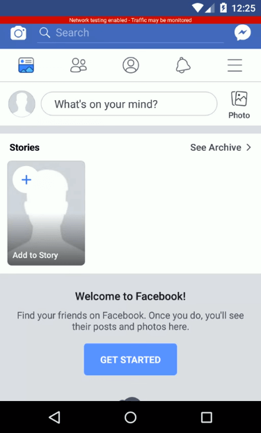 Facebook app restarted to show alarm on top